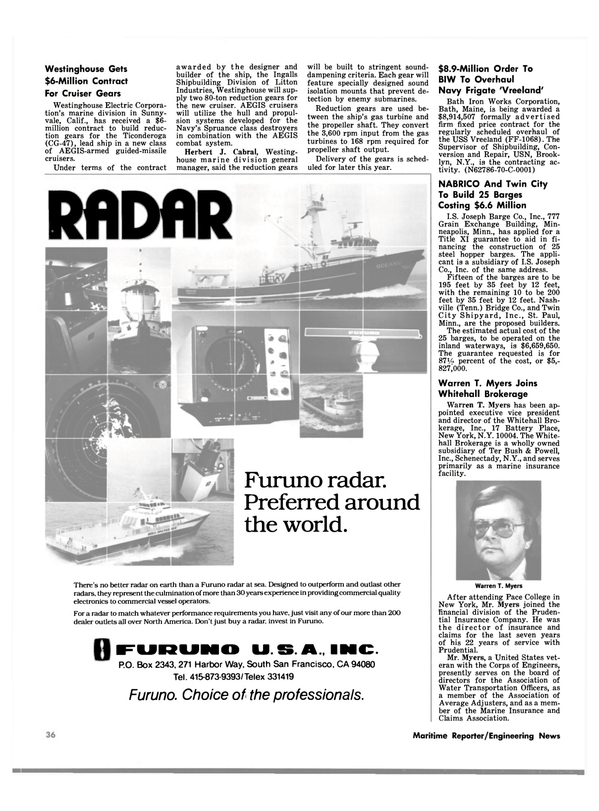 Maritime Reporter Magazine, page 34,  May 1980