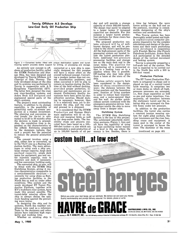 Maritime Reporter Magazine, page 37,  May 1980 Grace Shipbuilding