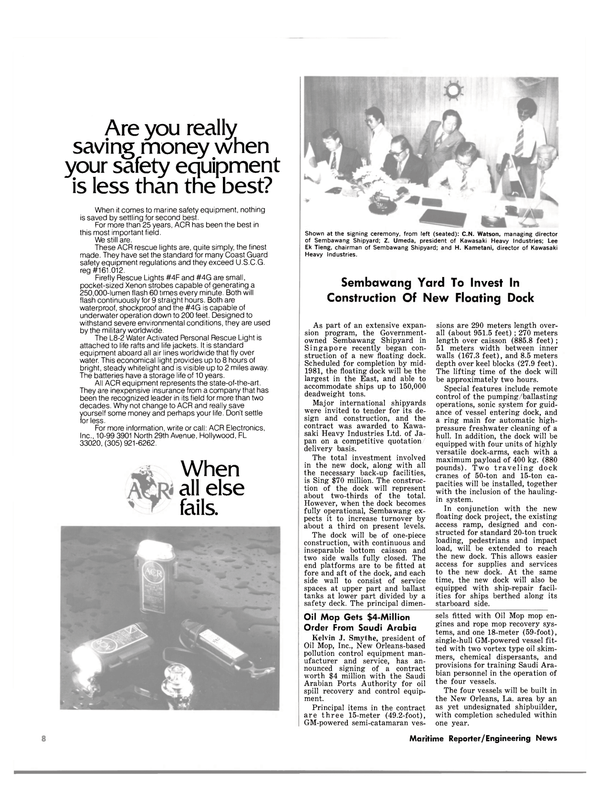 Maritime Reporter Magazine, page 6,  May 1980