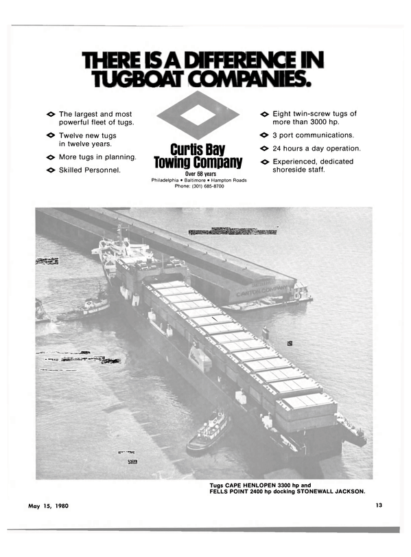 Maritime Reporter Magazine, page 11,  May 15, 1980