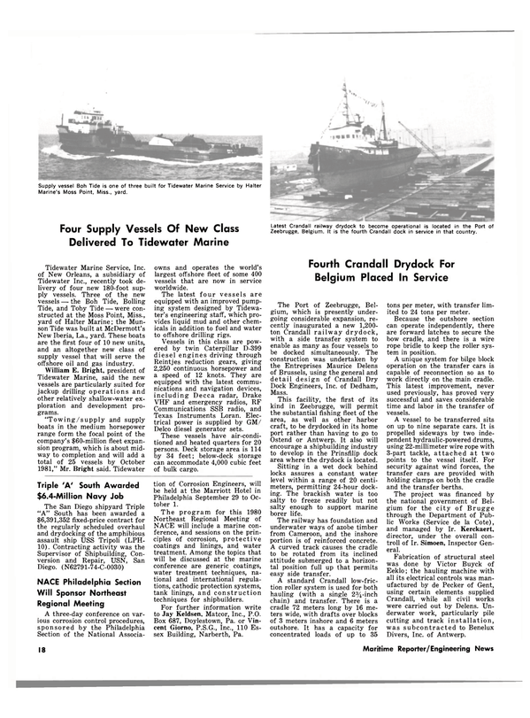 Maritime Reporter Magazine, page 16,  May 15, 1980
