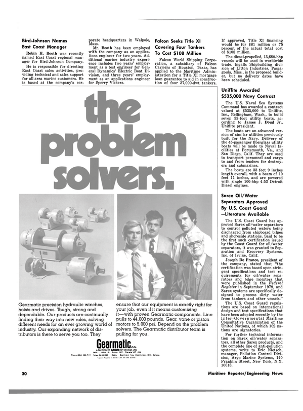 Maritime Reporter Magazine, page 18,  May 15, 1980
