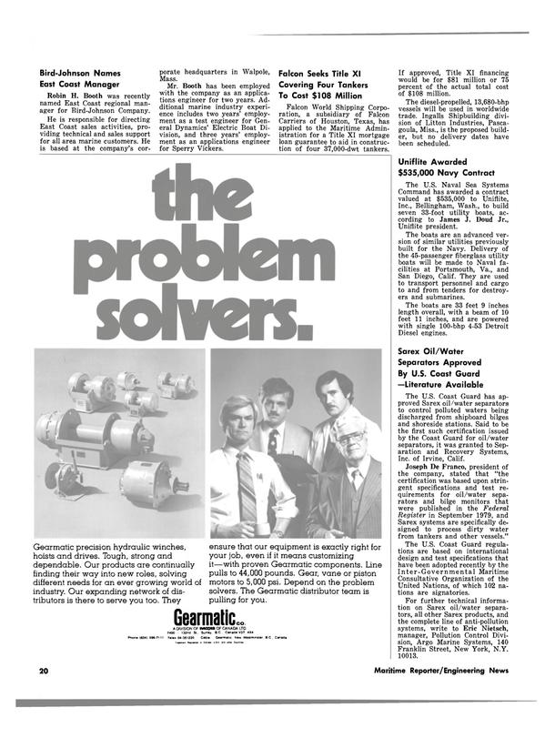 Maritime Reporter Magazine, page 18,  May 15, 1980 Massachusetts