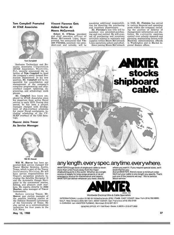 Maritime Reporter Magazine, page 37,  May 15, 1980