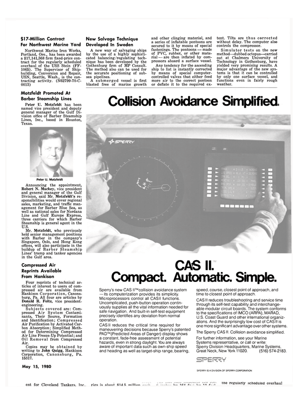 Maritime Reporter Magazine, page 41,  May 15, 1980