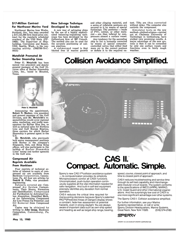 Maritime Reporter Magazine, page 43,  May 15, 1980