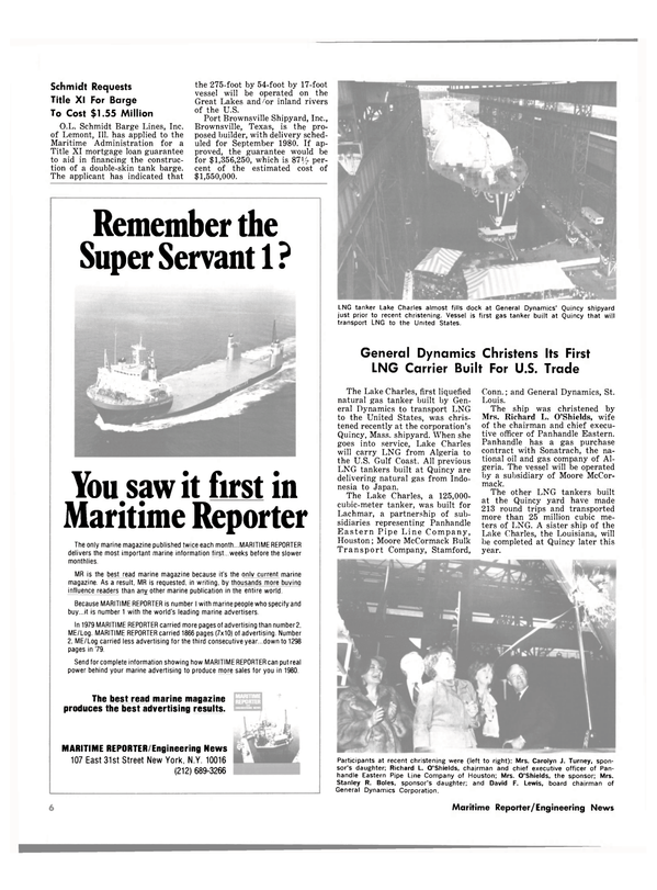 Maritime Reporter Magazine, page 4,  May 15, 1980