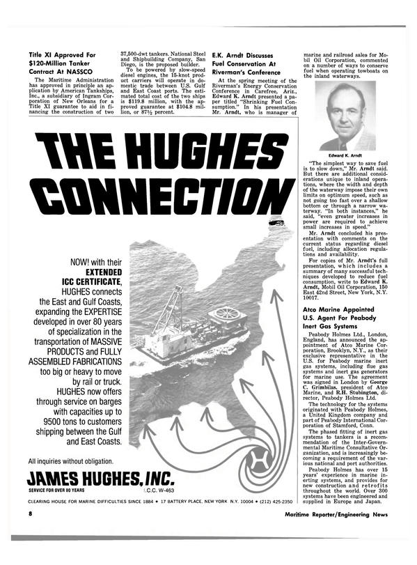 Maritime Reporter Magazine, page 8,  Jun 15, 1980 Connecticut