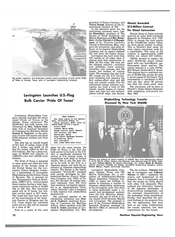 Maritime Reporter Magazine, page 12,  Jun 15, 1980