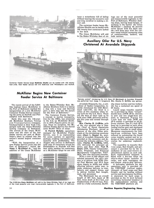 Maritime Reporter Magazine, page 36,  Jun 15, 1980 Allister Feeder