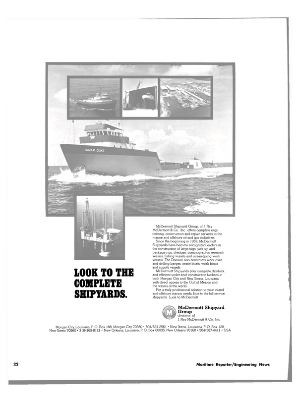 Maritime Reporter Magazine, page 22,  Jul 1980 Gulf of Mexico
