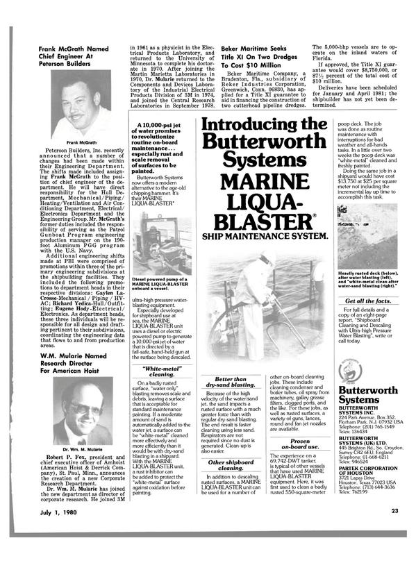 Maritime Reporter Magazine, page 23,  Jul 1980 Texas