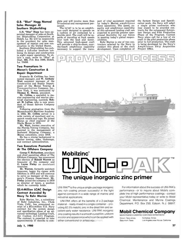 Maritime Reporter Magazine, page 27,  Jul 1980