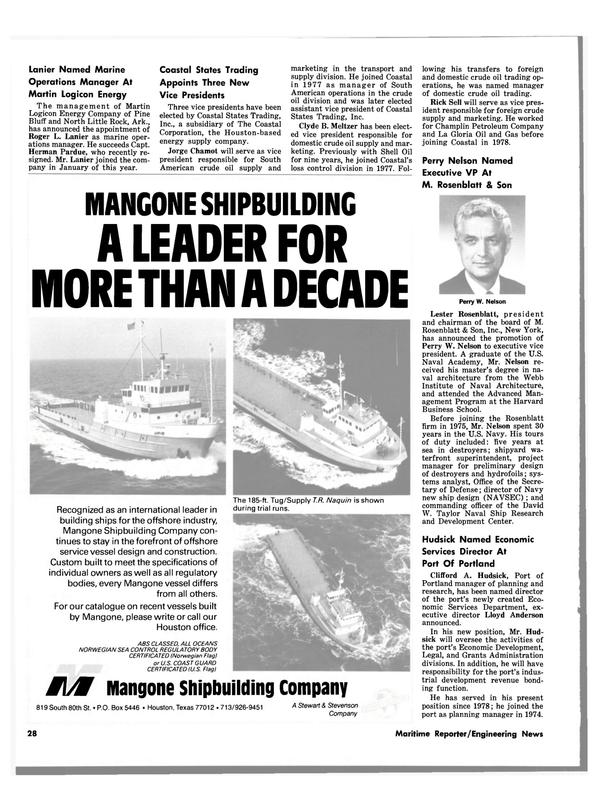 Maritime Reporter Magazine, page 28,  Jul 1980 Herman Pardue