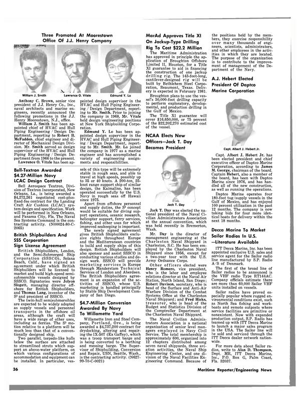 Maritime Reporter Magazine, page 36,  Jul 1980