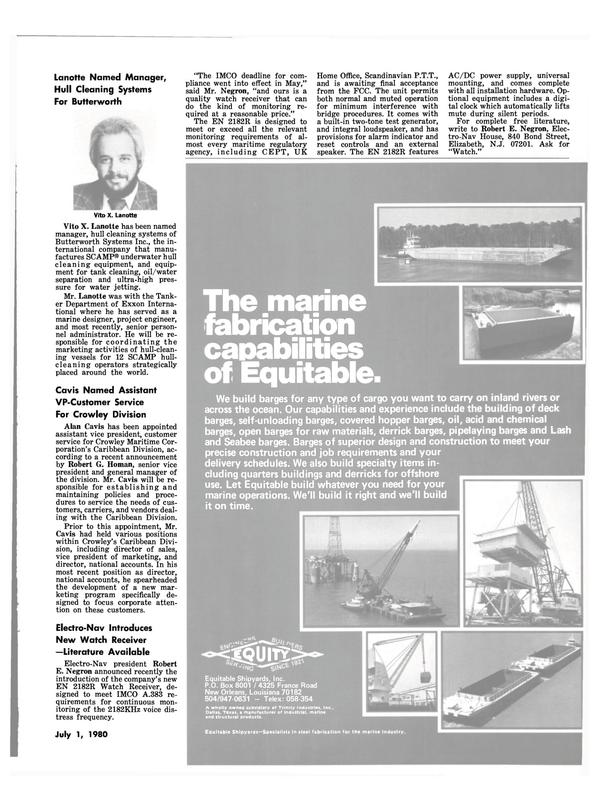 Maritime Reporter Magazine, page 37,  Jul 1980