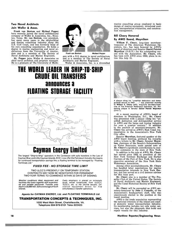 Maritime Reporter Magazine, page 16,  Jul 15, 1980