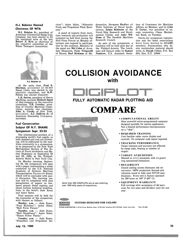 Maritime Reporter Magazine, page 35,  Jul 15, 1980