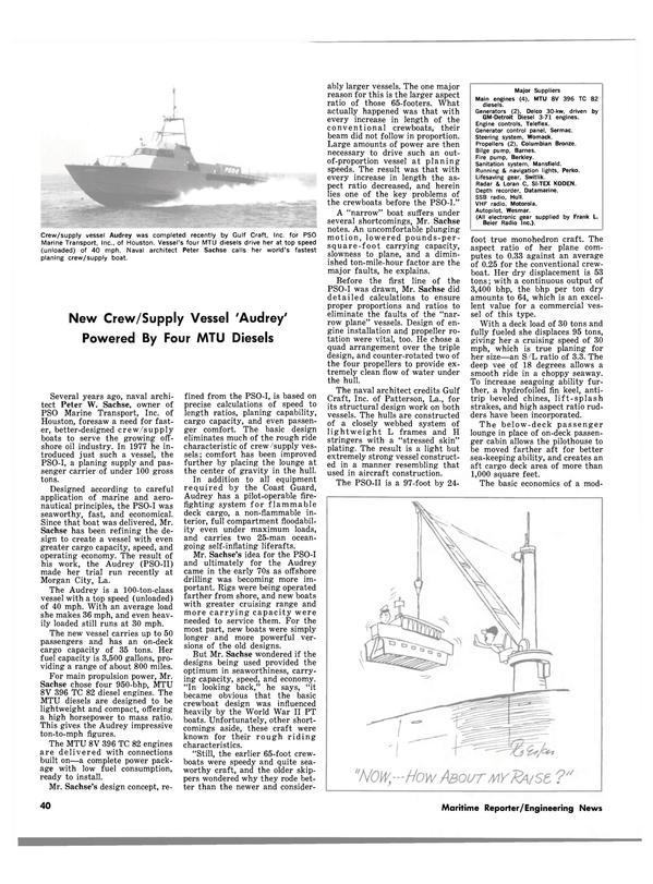 Maritime Reporter Magazine, page 40,  Jul 15, 1980