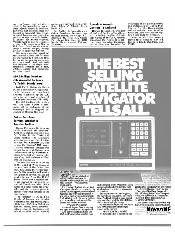 Maritime Reporter Magazine, page 41,  Jul 15, 1980