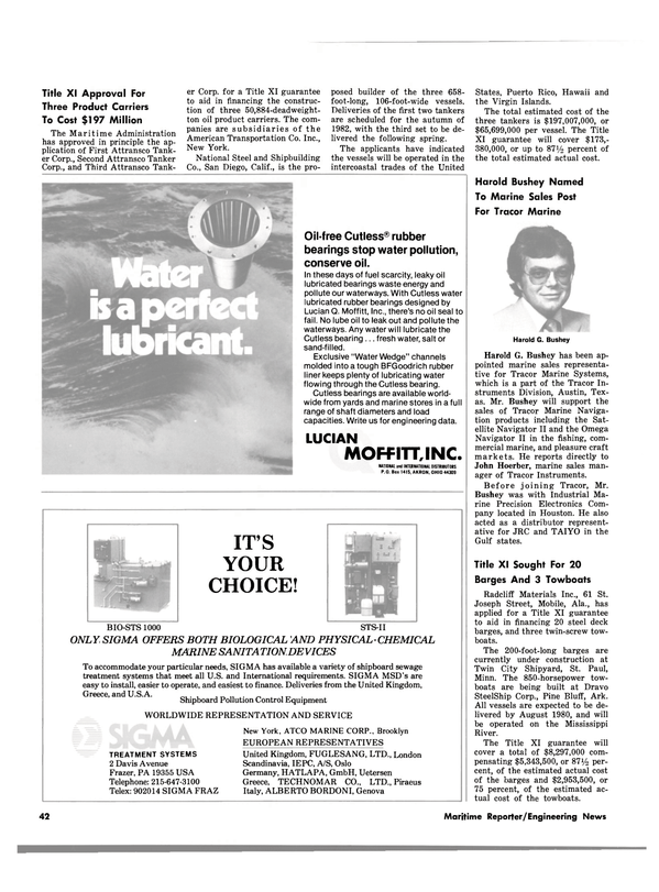 Maritime Reporter Magazine, page 42,  Jul 15, 1980