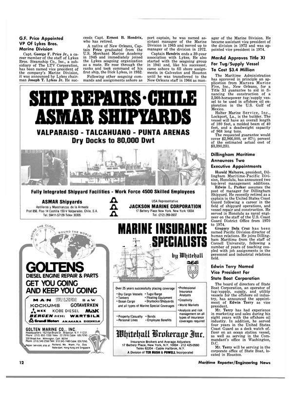 Maritime Reporter Magazine, page 10,  Aug 1980 U.S. Merchant Marine Academy
