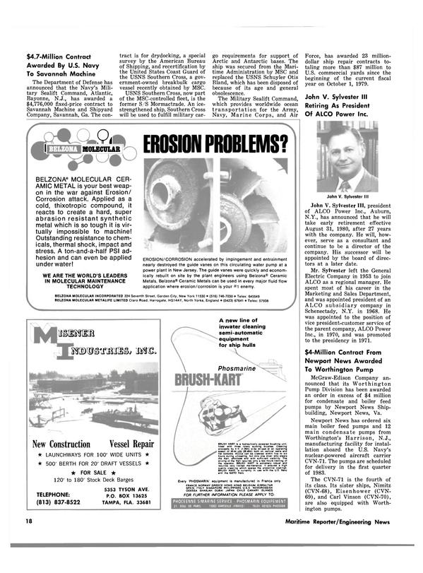 Maritime Reporter Magazine, page 16,  Aug 1980