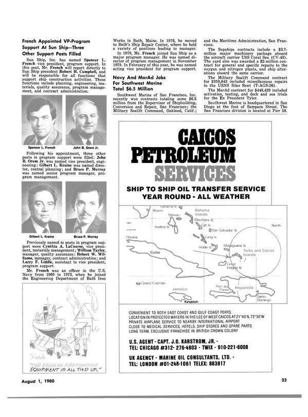 Maritime Reporter Magazine, page 21,  Aug 1980 California