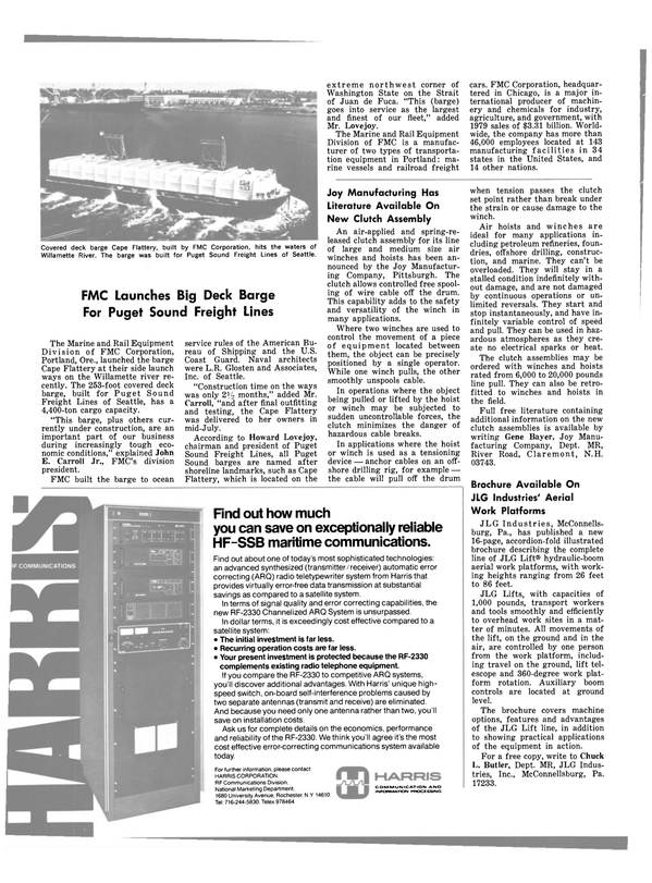 Maritime Reporter Magazine, page 32,  Aug 1980