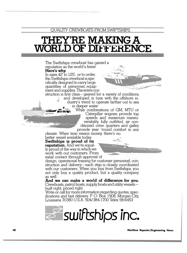 Maritime Reporter Magazine, page 38,  Aug 1980 United States