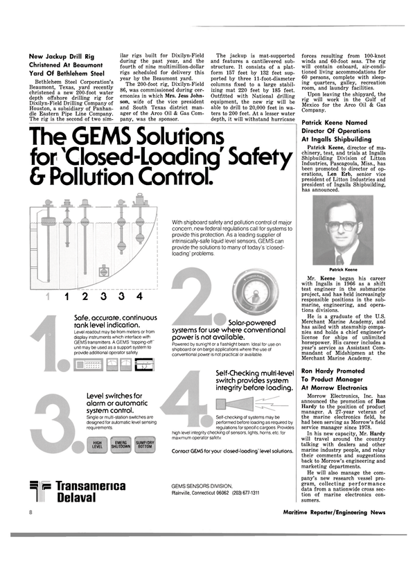 Maritime Reporter Magazine, page 6,  Aug 1980 Connecticut