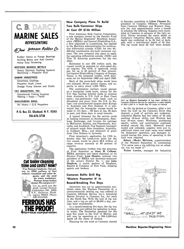 Maritime Reporter Magazine, page 40,  Aug 15, 1980 Mississippi