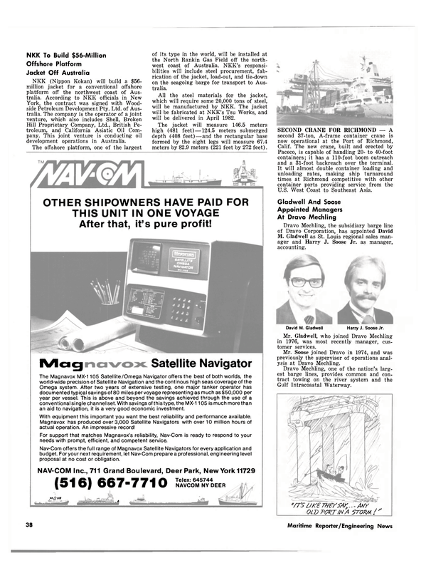 Maritime Reporter Magazine, page 36,  Sep 1980
