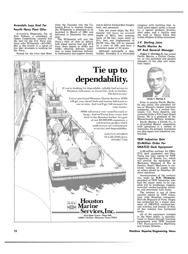 Maritime Reporter Magazine, page 10,  Sep 15, 1980