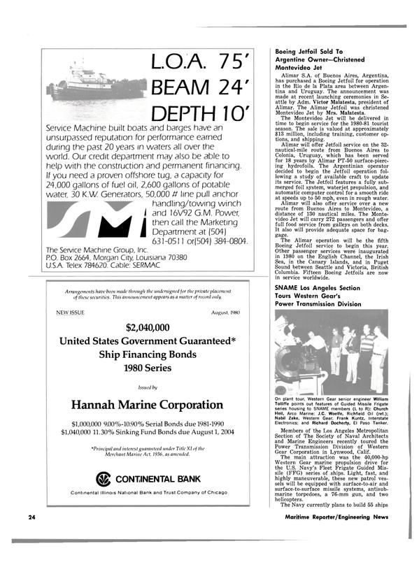 Maritime Reporter Magazine, page 22,  Sep 15, 1980 British Columbia