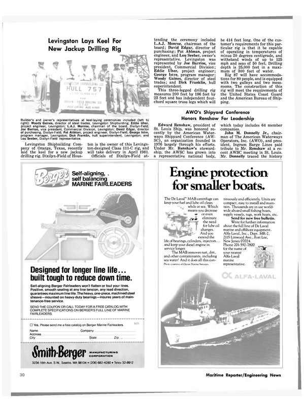 Maritime Reporter Magazine, page 28,  Sep 15, 1980