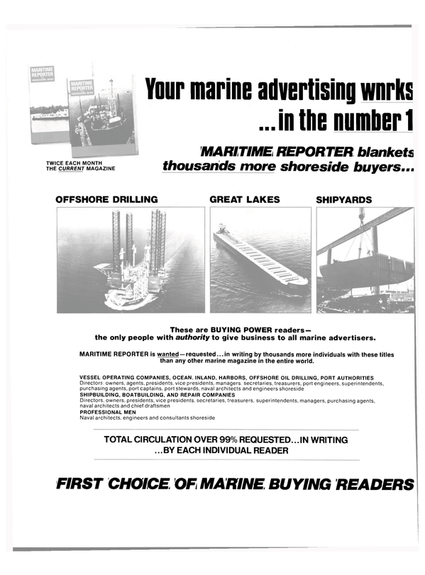Maritime Reporter Magazine, page 42,  Sep 15, 1980
