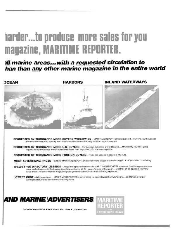 Maritime Reporter Magazine, page 43,  Sep 15, 1980 United States