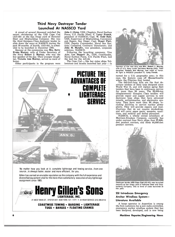 Maritime Reporter Magazine, page 4,  Sep 15, 1980