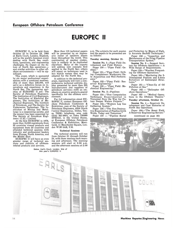 Maritime Reporter Magazine, page 10,  Oct 1980 Earl