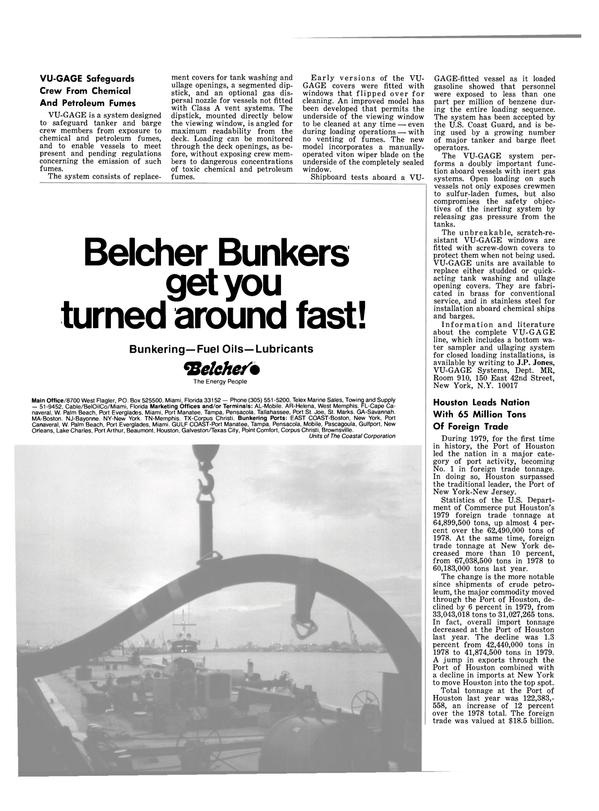 Maritime Reporter Magazine, page 28,  Oct 1980 New Jersey