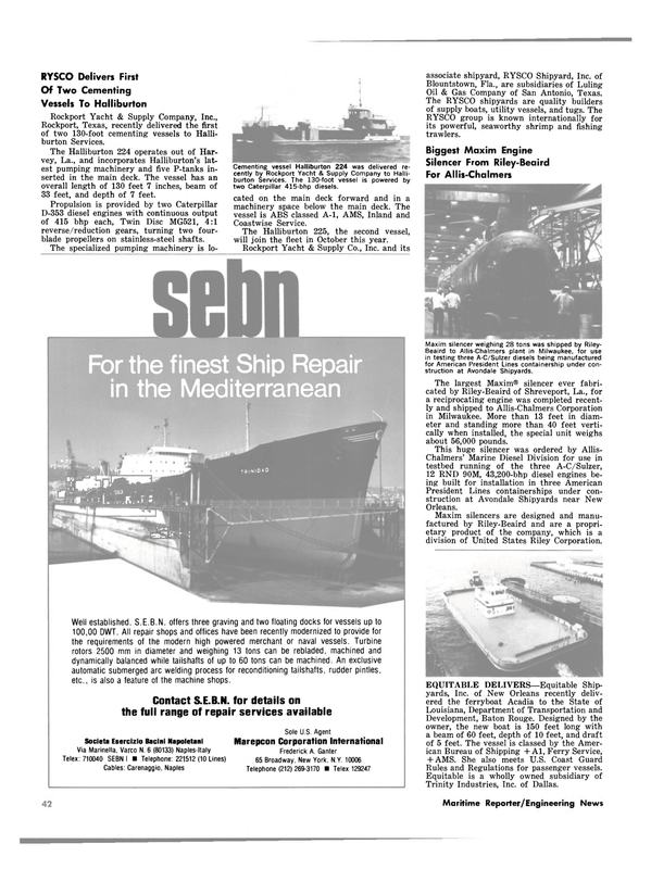 Maritime Reporter Magazine, page 38,  Oct 1980 Florida