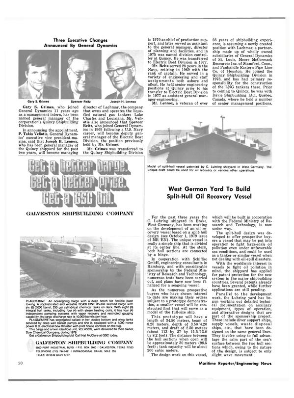 Maritime Reporter Magazine, page 46,  Oct 1980 Quebec