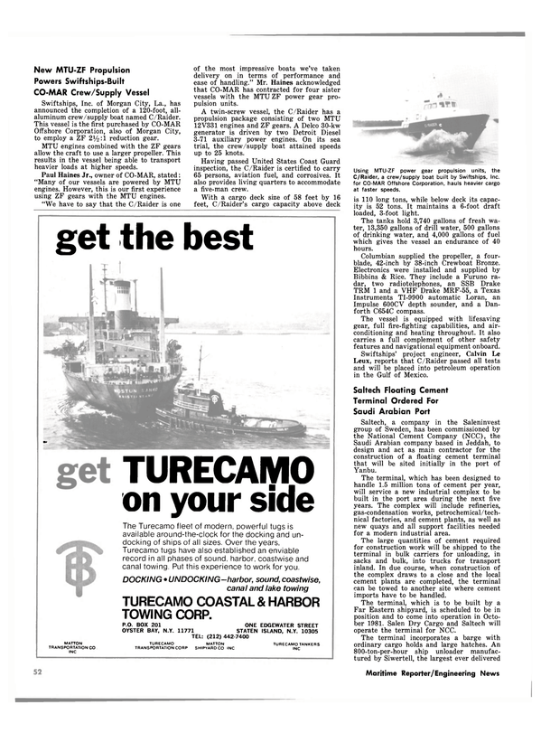 Maritime Reporter Magazine, page 48,  Oct 1980