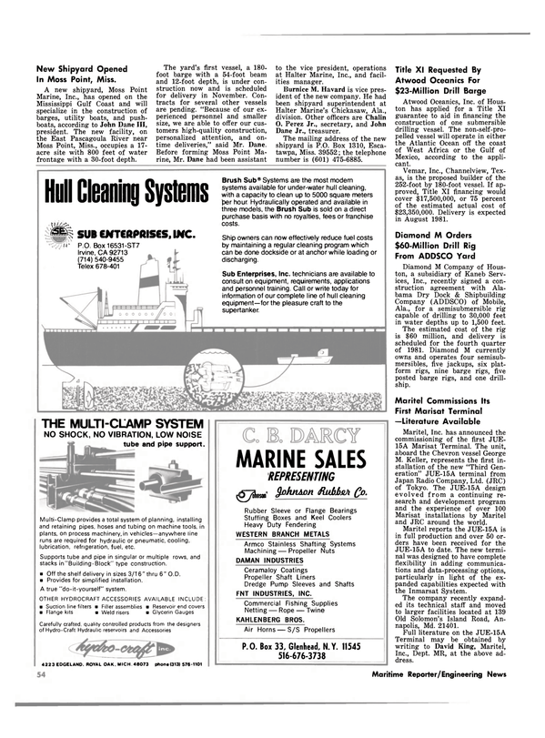 Maritime Reporter Magazine, page 50,  Oct 1980 Michigan
