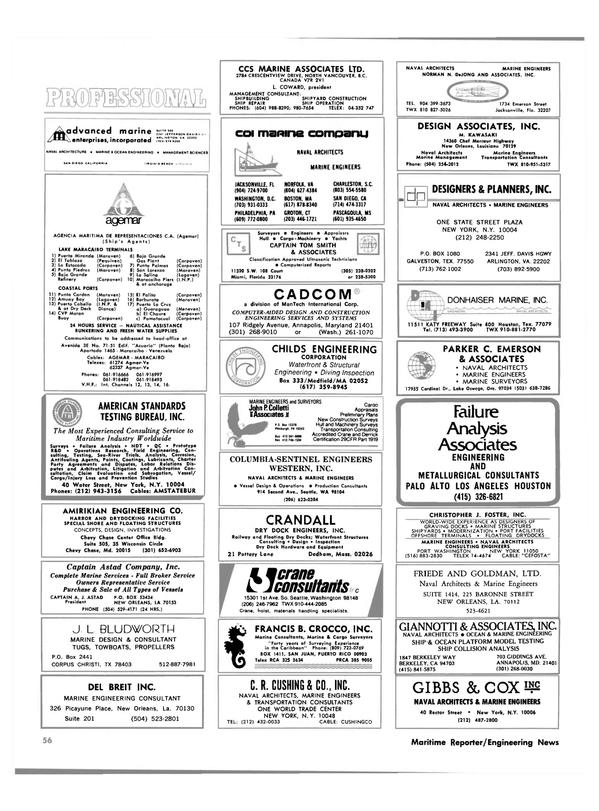 Maritime Reporter Magazine, page 52,  Oct 1980