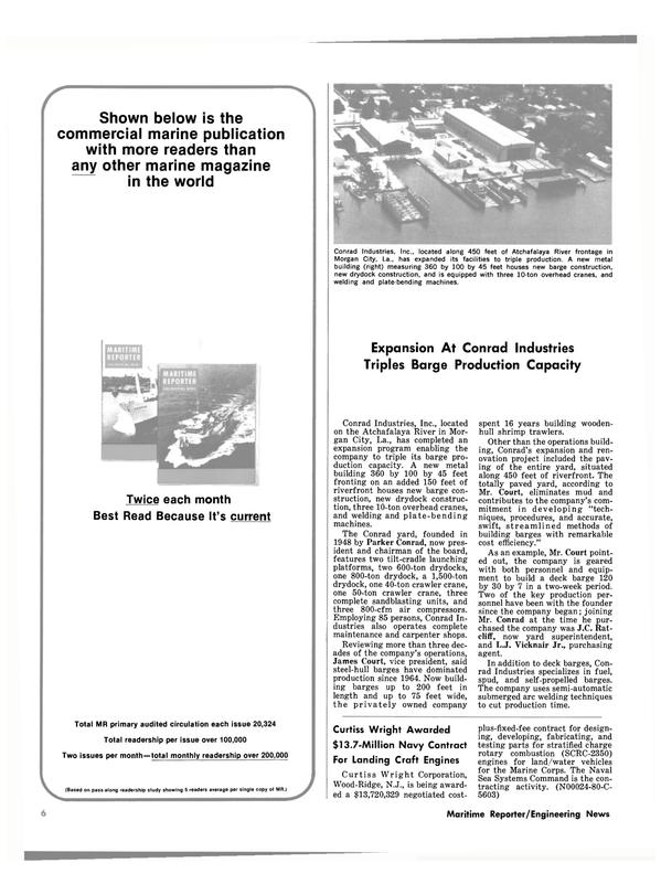 Maritime Reporter Magazine, page 4,  Oct 15, 1980