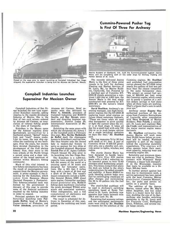 Maritime Reporter Magazine, page 20,  Nov 15, 1980