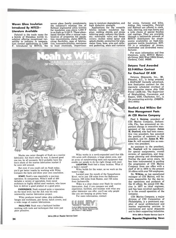 Maritime Reporter Magazine, page 22,  Nov 15, 1980 Florida