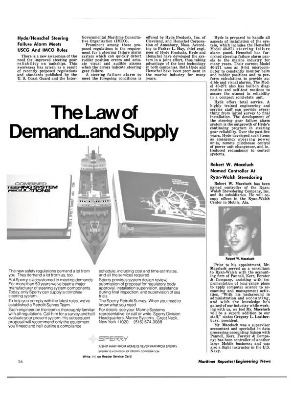 Maritime Reporter Magazine, page 24,  Nov 15, 1980